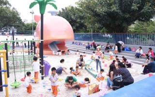 花蓮親子遊玩新景點:花崗山親子戲沙池全新開放
