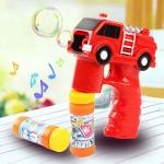 消防車造型連續式電動泡泡槍(有LED燈+音樂)