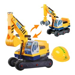 2合1兒童乘坐挖土機+抓吊機2用車(專利)