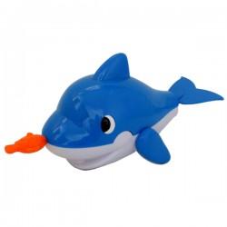 拉線藍色小鯨魚洗澡玩具(ST)