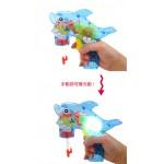 手壓式發光連續泡泡槍(透明版)(防水可水洗)(CE)