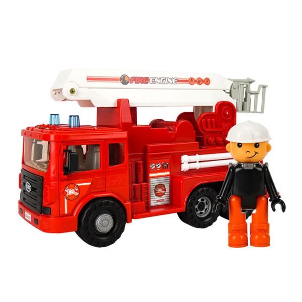 韓國進口消防雲梯噴水車(雲梯可升高)(附人偶)(大台)(ST玩具百貨公司貨品質保證)