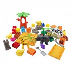 JDLT幼兒版動物園場景建構大積木(CE環保塑料)(5063)(43PCS)(透明袋裝)
