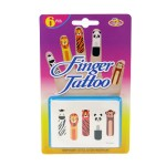 手指紋身貼紙(6片裝)(動物版)
