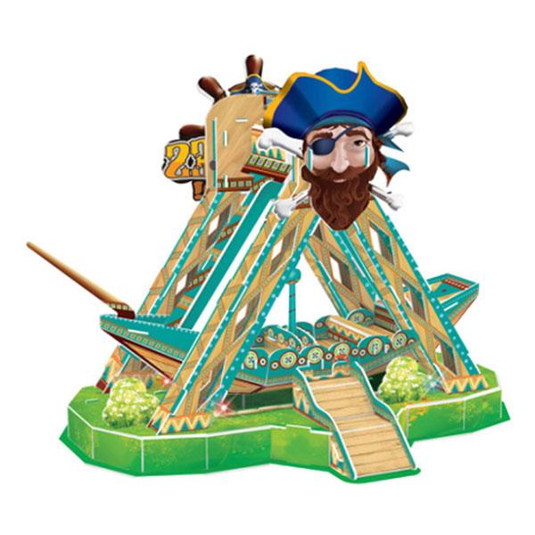 電動版3D立體拼圖(海盜船)(有聲光音樂)(16813) (無法超商取貨)