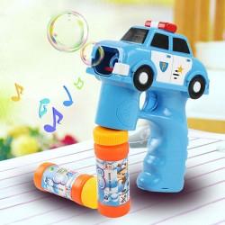警察車造型連續式電動泡泡槍(有LED燈+音樂)