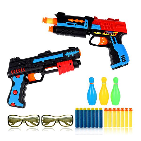 雙雄爭霸2入安全軟彈槍(附護目鏡)(親子互動雙人對戰) (無法超商取貨)