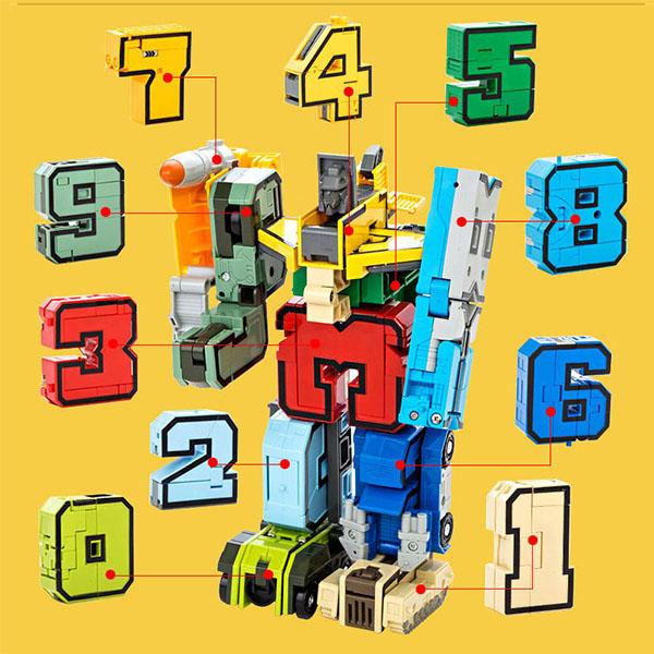 數字變形積木機器人(每款2變/10款可大合1)(授權) (無法超商取貨)