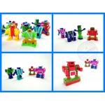 ABC字母變形積木機器人(每款2變/26款字母)(授權) (無法超商取貨)