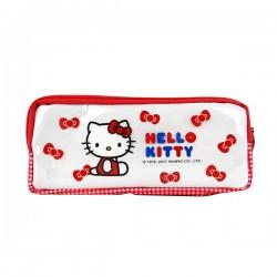 Hello Kitty 亮面雙層雙拉鍊筆袋(授權)