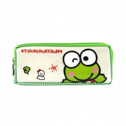 大眼蛙亮面雙層雙拉鍊筆袋(授權)