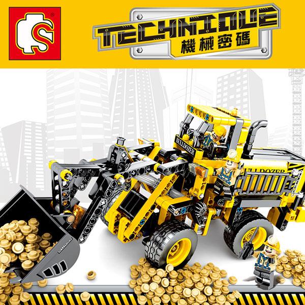 【森寶積木】大型推土機組合積木組(688PCS)(701701) (無法超商取貨)