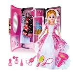 月兒公主豪華換裝組+手提化粧包(可變衣廚)(85030) (無法超商取貨)
