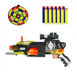 6發裝子彈自動連發安全軟彈槍(有音效可變形)(品質佳)(附36發子彈)(614)