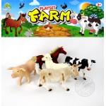 5入仿真農場動物模型(大隻)(乳牛版)(安全塑料)