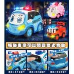 警車聯盟(救護車小芸)聲光觸控回力合金車(3002授權)