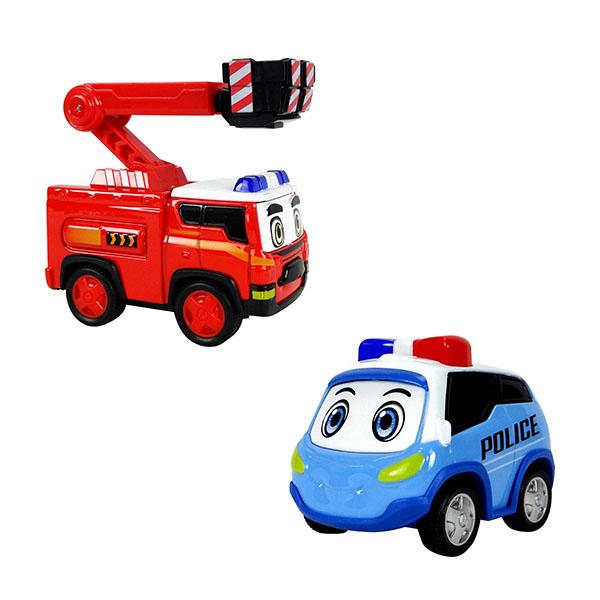 警車聯盟(小治+大雷)2入回力合金車(10022授權)