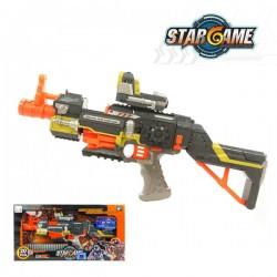 10發裝子彈自動連發安全軟彈槍(有紅外線瞄準)(品質佳)(附50發子彈)(814) (無法超商取貨)