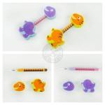 台製動物造型文具組(2擦子+1鉛筆)(環保無毒橡皮擦)
