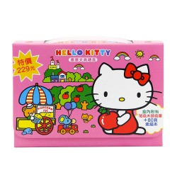 Hello Kitty 著色文具組(手提盒裝)(16色色鉛筆80頁)(授權)