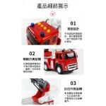 1:12 大台聲光消防雲梯車(慣性前進)(11886)