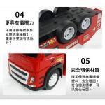 1:12 大台聲光紅色拖吊車(慣性前進)(11882)