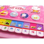 粉紅兔手提式10鍵電子琴(授權)