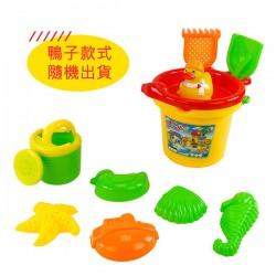 8件式黃色水桶玩沙工具組(沙灘組)