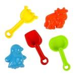 5件式玩沙工具組(沙灘玩具)