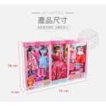 004A公主娃娃時裝秀套裝組(東方臉型)(5件衣服+鞋子配件)(ST) (無法超商取貨)