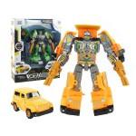 1682 吉普車變形機器人(有聲光)(可變車)(黃色/綠色)