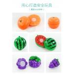 8入水果切切樂(附大盤子+刀叉)(葡萄版)(安全漆ST903B)