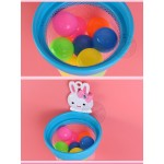 粉紅兔洗澡玩具投籃組(附吸盤+彩球10顆)(授權)