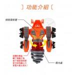 2合1機器人發光陀螺+飛碟槍(0899)