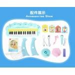 兒童早教多功能立式37鍵閃光音樂電子琴(附椅子麥克風)(8806) (無法超商取貨)