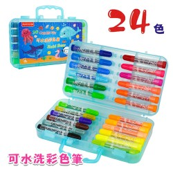 Penrote 24色可水洗彩色筆(粗桿)(手提藍盒)
