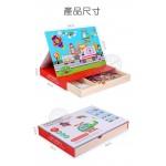 木丸子場景主題磁鐵拼拼樂遊戲組(木盒收納)
