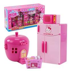 粉紅兔迷你冰箱+蘋果屋套裝家家酒(附小公仔)(授權)