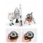 4D立體太空系列模型拼裝積木(附主題收納盒4566)