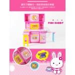 粉紅兔精緻盒裝(廚房烹飪組+下午茶組)家家酒(授權)