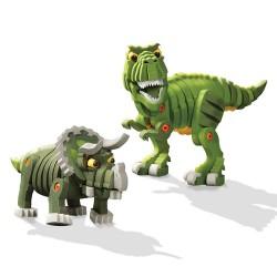 兒童EVA恐龍世界3D拼圖積木(關節可動)