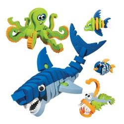 兒童EVA海底世界3D拼圖積木(關節可動)