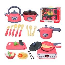 兒童精緻超仿真電磁爐廚具組家家酒(6010)(火力顯示器) (無法超商取貨)