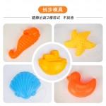 7件式黃色水桶玩沙工具組(沙灘組)(沙漏水車版)(834)