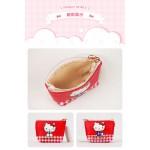 Hello Kitty 斜紋皮革零錢包+鑰匙包(授權)