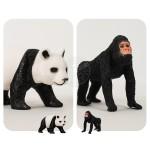 6入仿真野生動物模型(小隻)(熊貓版)(硬材質)(安全塑料)