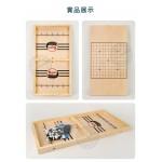 木製大板面彈彈棋+五子棋(雙人對戰刺激) (無法超商取貨)