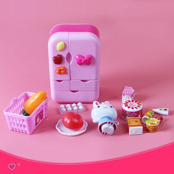 粉紅兔雙開門冰箱組家家酒(授權17106)