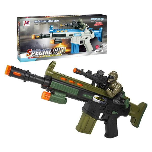 電動聲光狙擊手兒童步槍(有振動效果附背袋)(8639) (無法超商取貨)