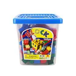 ST台灣製幼兒大塊益智積木(168PCS桶裝收納組)(與樂高得寶積木相容)